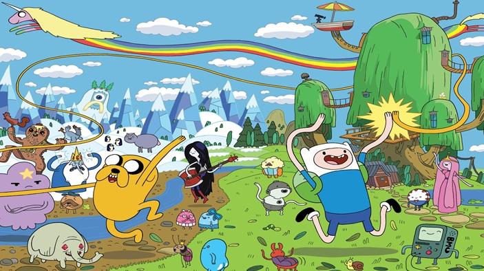 el loco mundo de la serie animada Horas de aventura