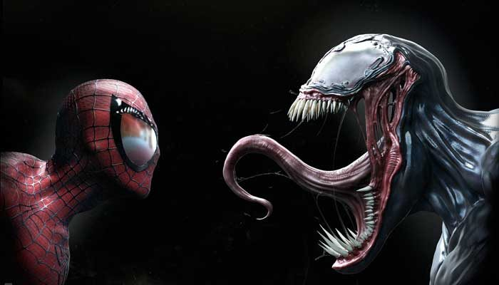 venom y spiderman