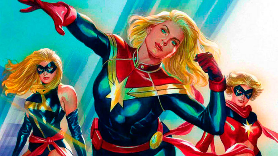 capitana marvel en comics